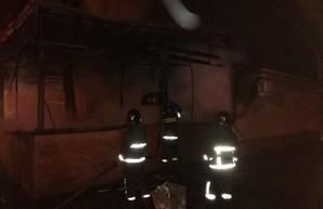В Киевском районе Одессы ночью сгорело кафе