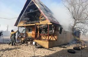 В Одесской области горела база отдыха