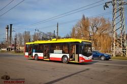 Как дезинфицируют одесский городской электротранспорт