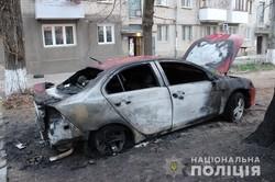 В Одесской области сгорел автомобиль прокурора