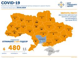 В Украине выявлены 480 случаев заболевания COVID-19, 8 из них – в Одесской области