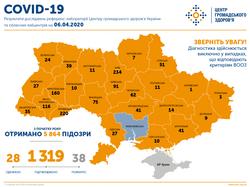 Коронавирус: 1319 заболевших в Украине и 27 в Одесской области