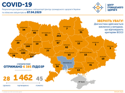 COVID-19: 1462 случая заболевания в Украине, из них 30 - в Одесской области