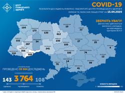 В Украине за сутки выявили почти 400 заболевших коронавирусом, 1 из них - в Одесской области
