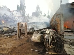В Затоке сгорели две базы отдыха, кафе и апрека: земельные разборки