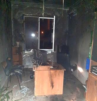 В Черноморске подожгли офис строительной компании