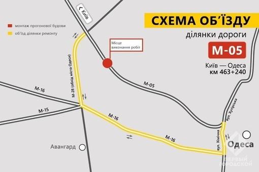 В Одессе на Киевской трассе полностью закроют часть
