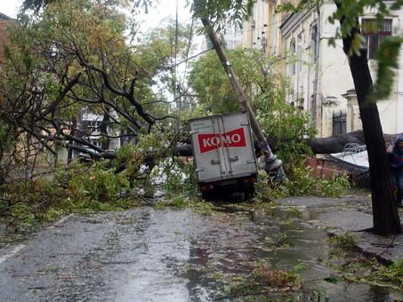В Одессе за ночь выпало больше половины месячной нормы осадков