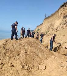На побережье в Одесской области произошел оползень: никто не пострадал